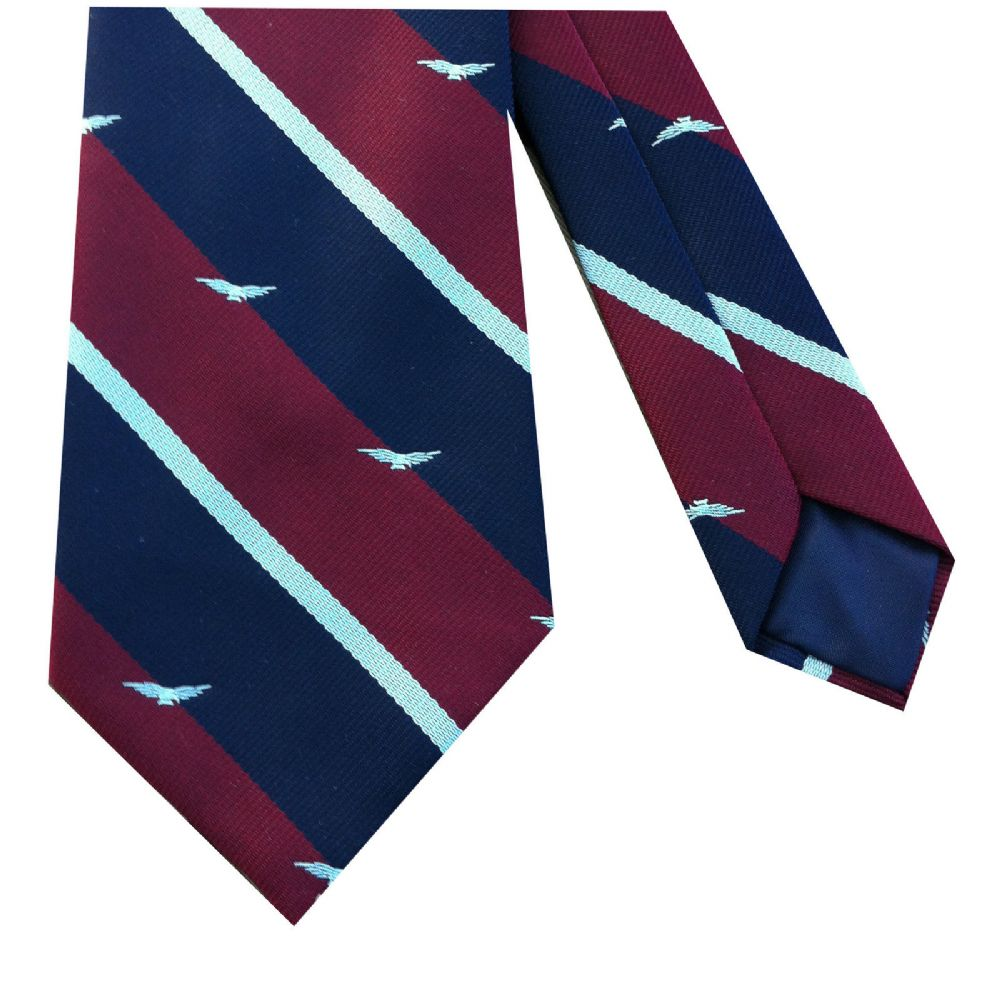 RAF Royal Air Force Striped Military Tie With Albatross Motif